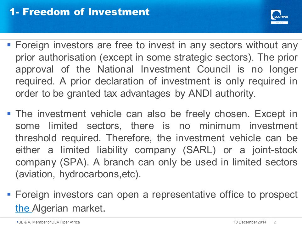 1- Freedom of Investment