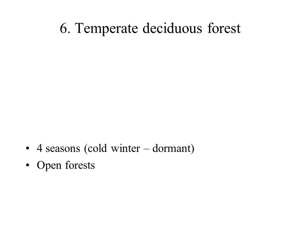 6. Temperate deciduous forest