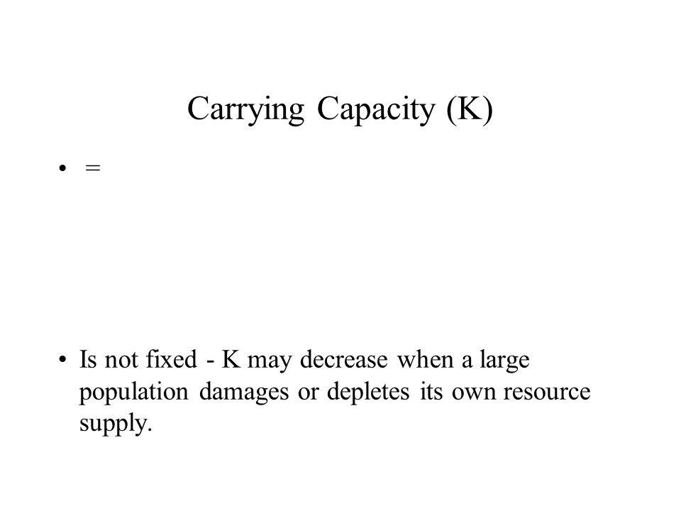 Carrying Capacity (K) =
