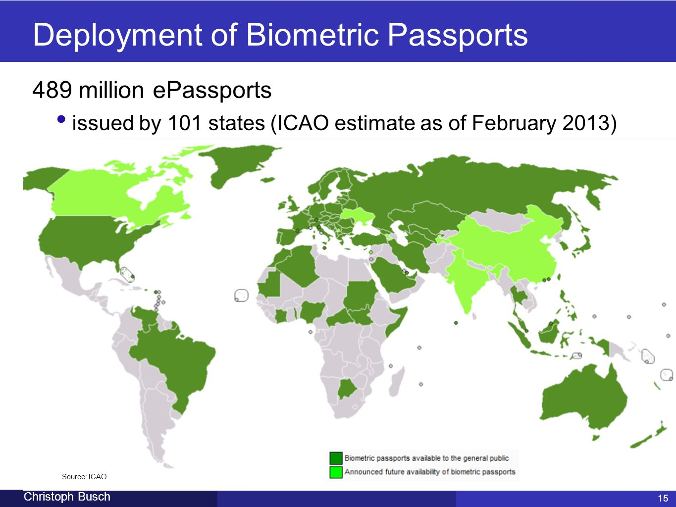 Deployment of Biometric Passports
