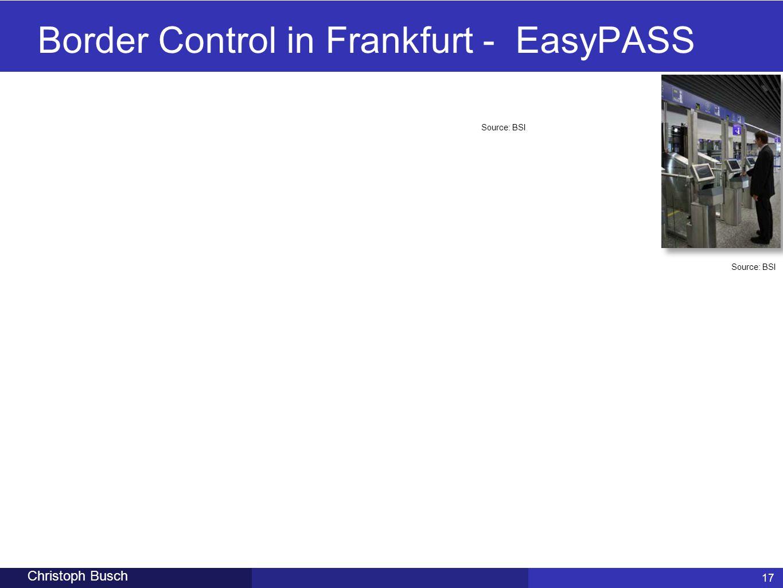 Border Control in Frankfurt - EasyPASS