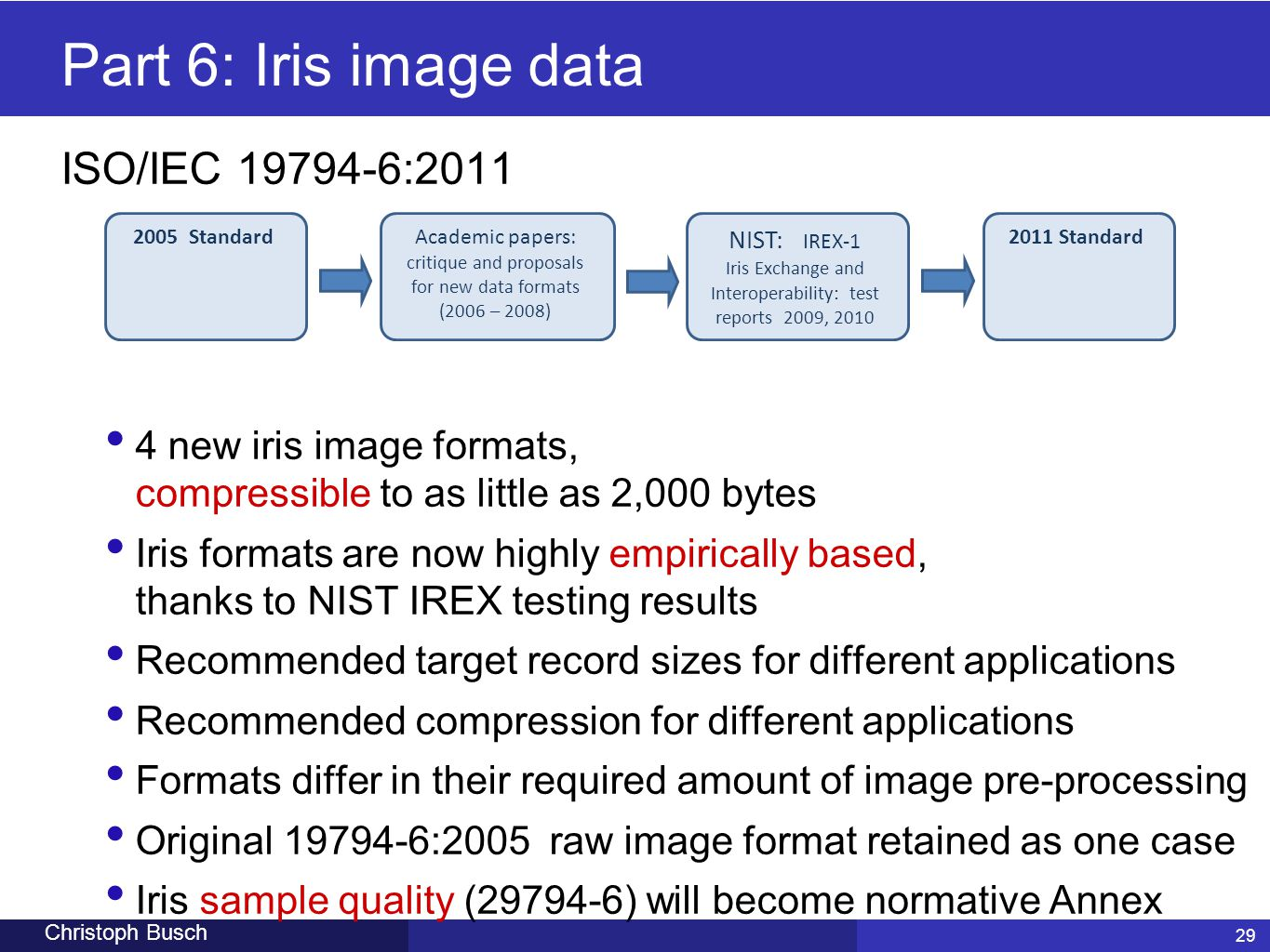 Iris Exchange and Interoperability: test reports 2009, 2010
