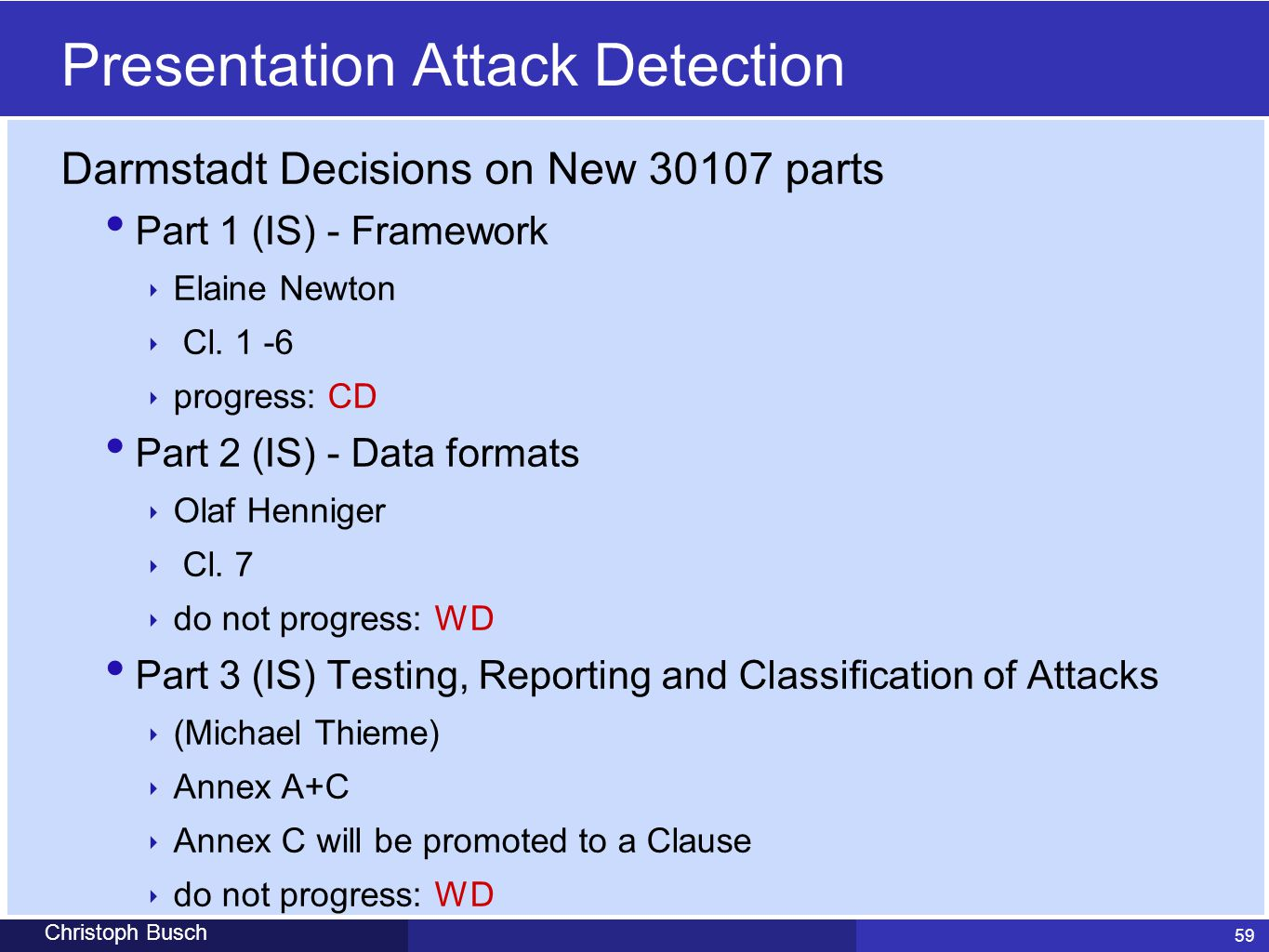 Presentation Attack Detection