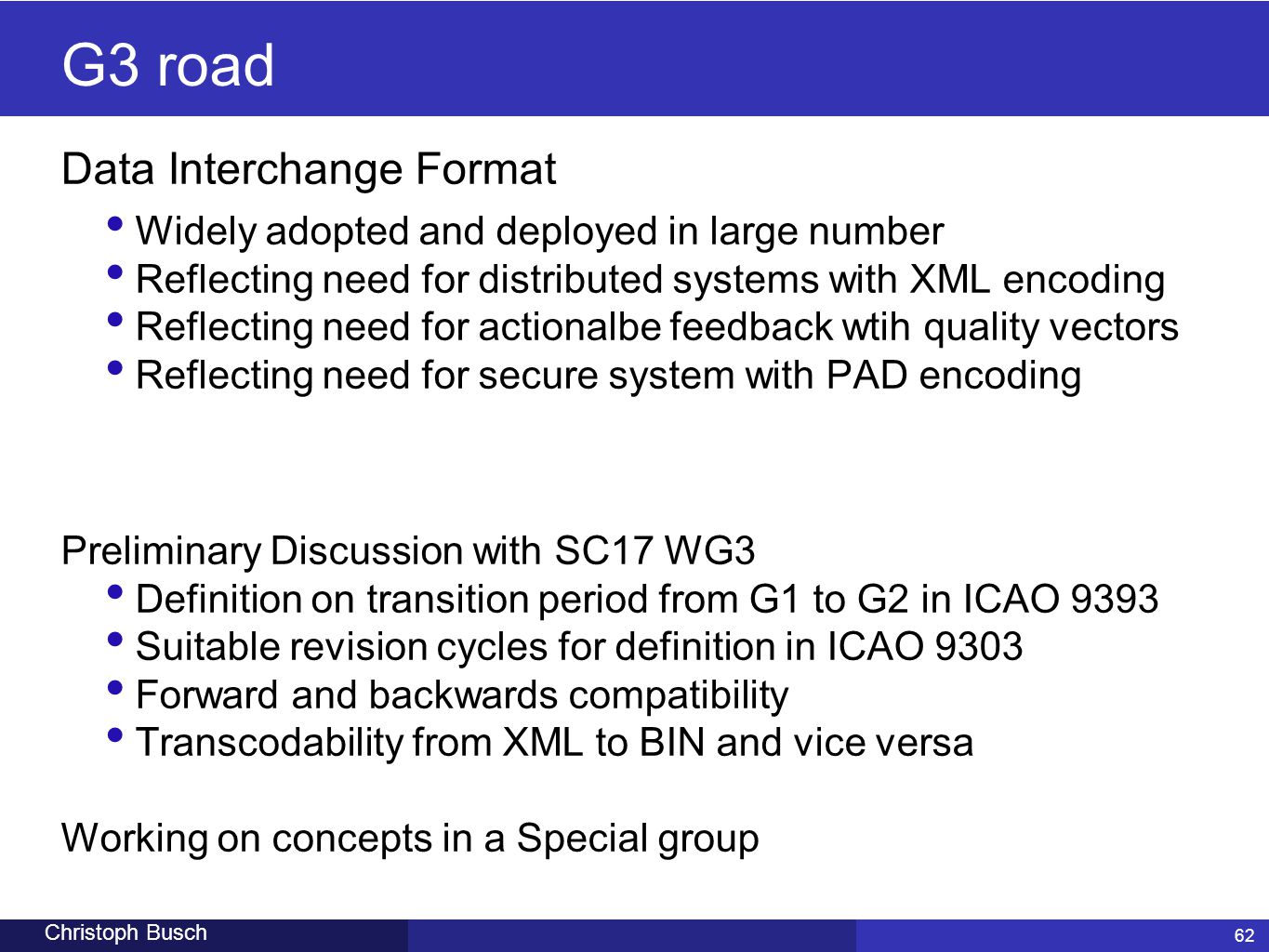 G3 road Data Interchange Format