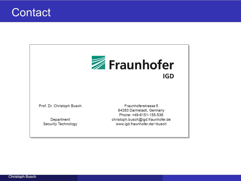 Prof. Dr. Christoph Busch