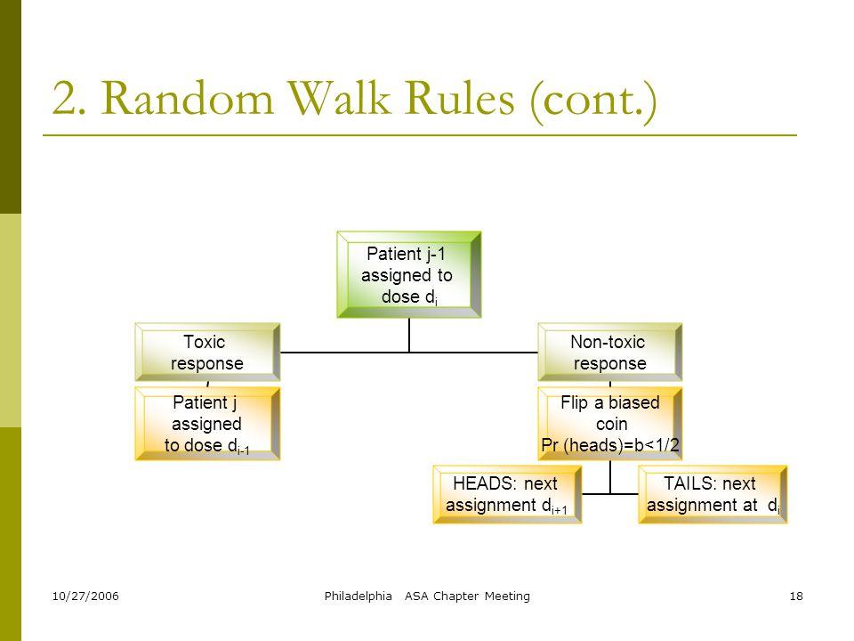 2. Random Walk Rules (cont.)