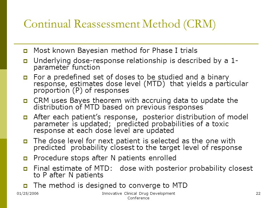 Continual Reassessment Method (CRM)
