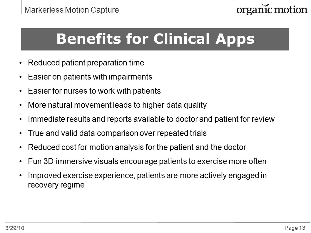 Benefits for Clinical Apps