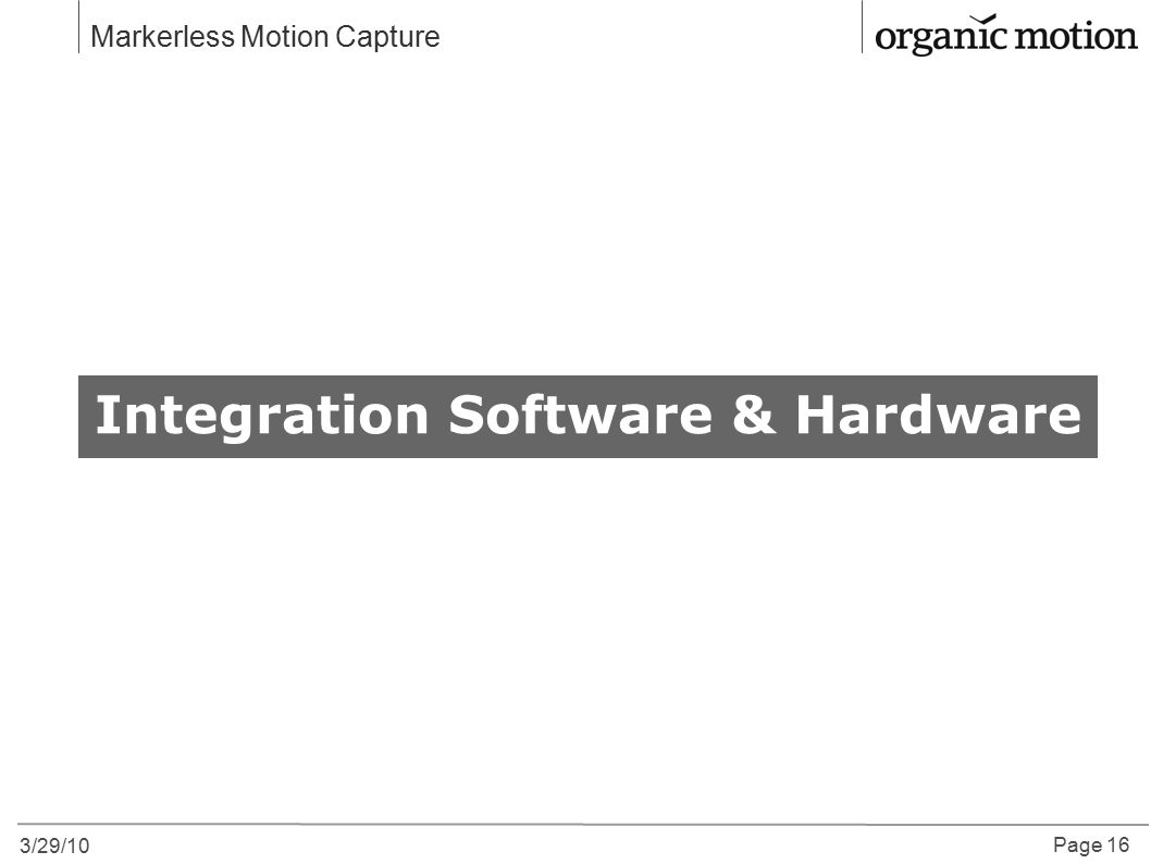 Integration Software & Hardware