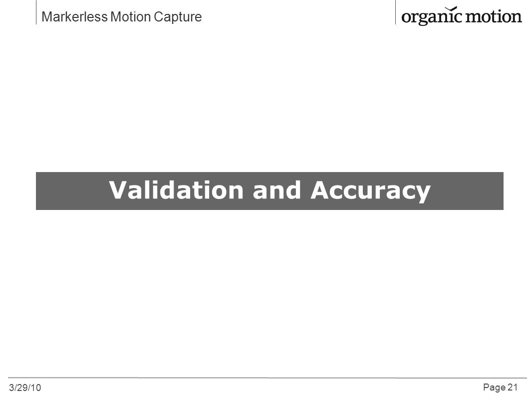 Validation and Accuracy