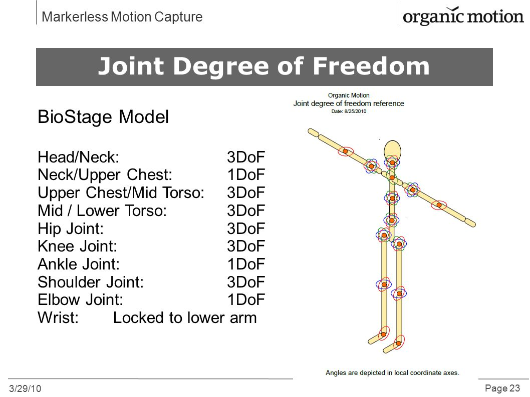 Joint Degree of Freedom
