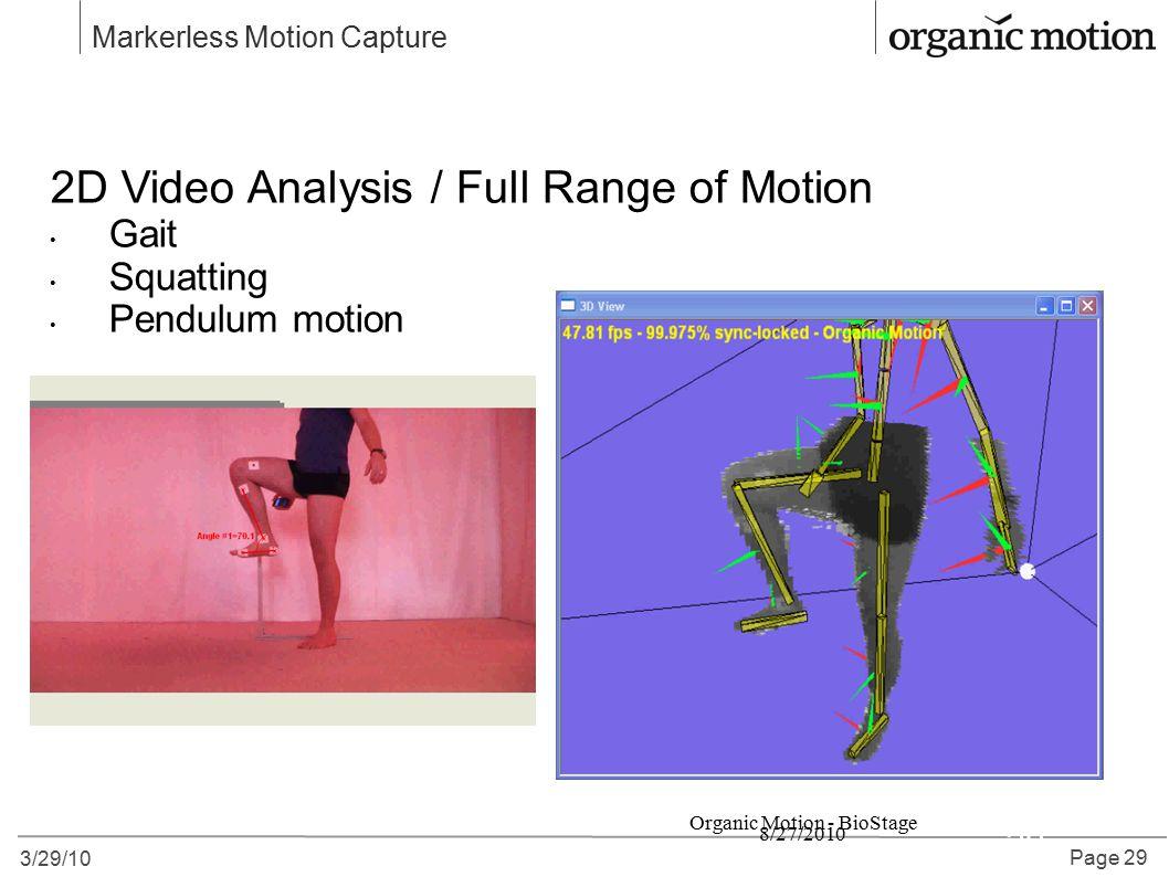 Organic Motion - BioStage