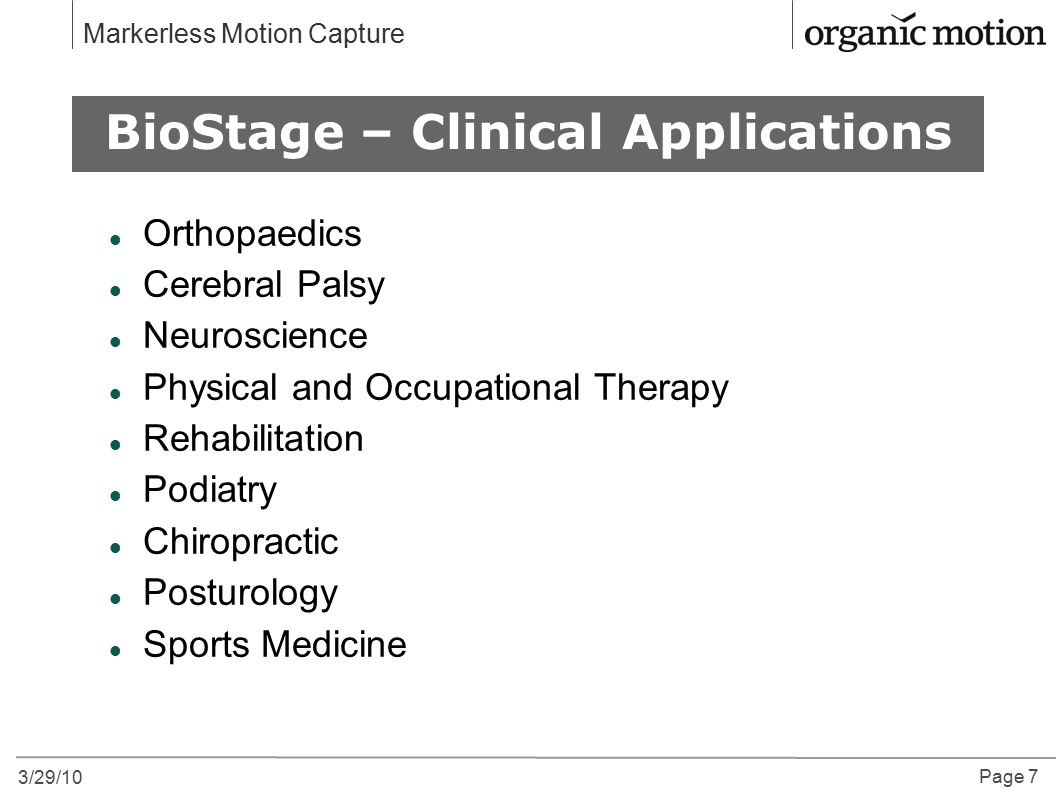BioStage – Clinical Applications