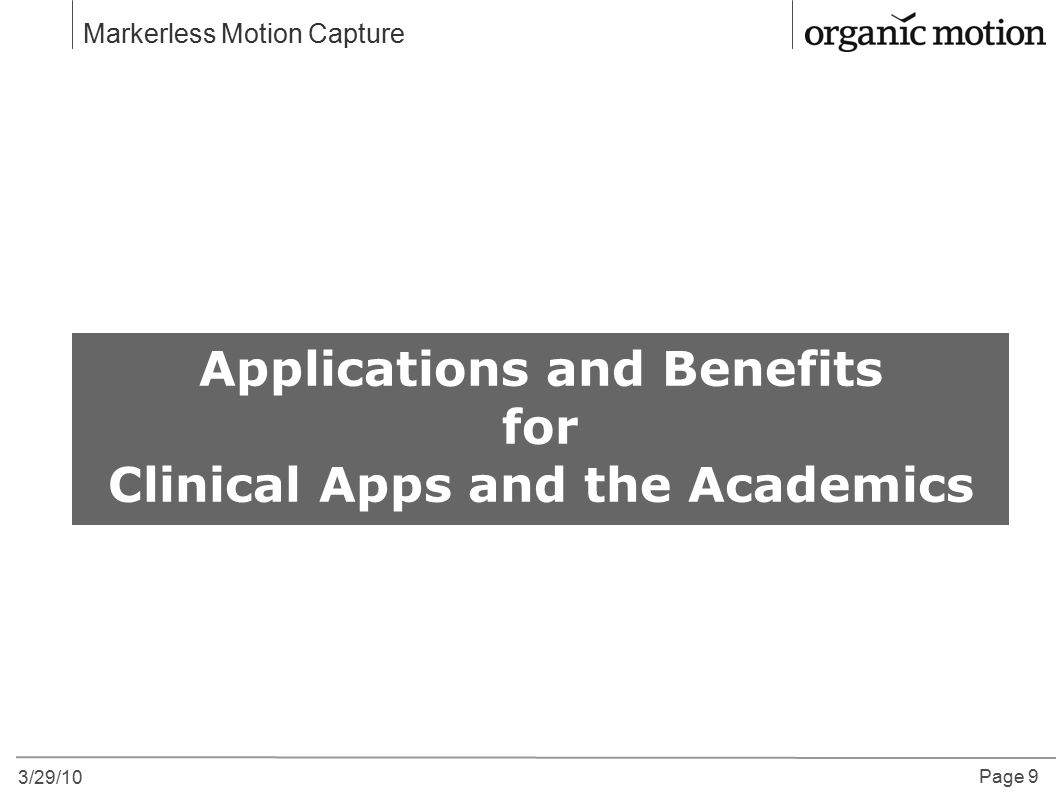 Applications and Benefits Clinical Apps and the Academics