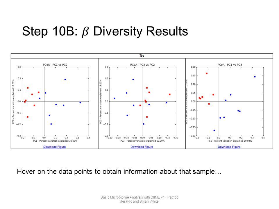 Step 10B: 𝛽 Diversity Results