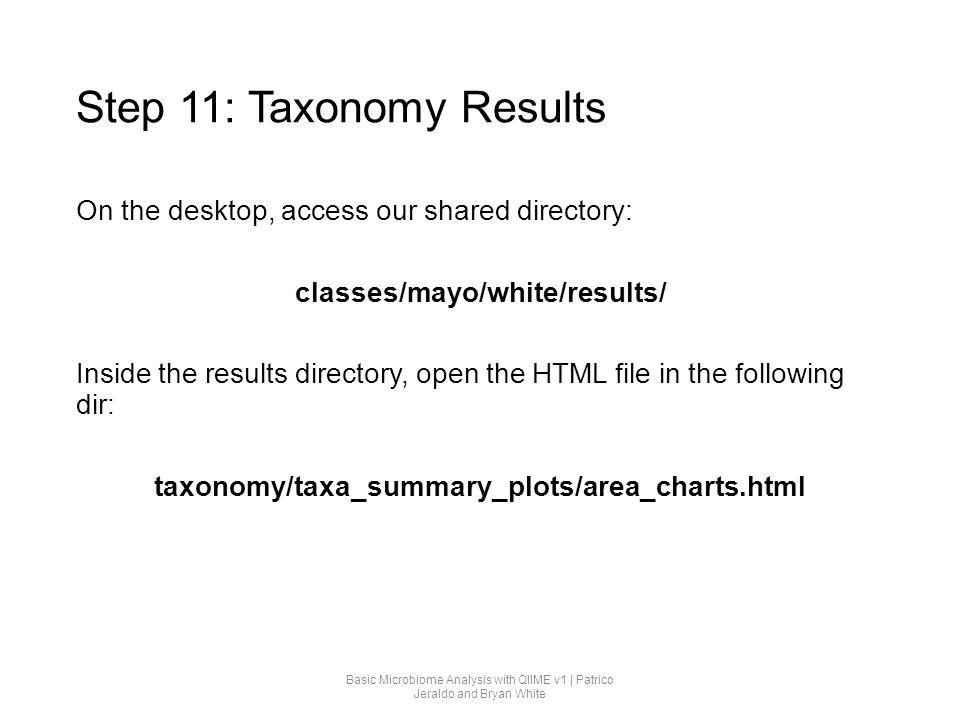 Step 11: Taxonomy Results