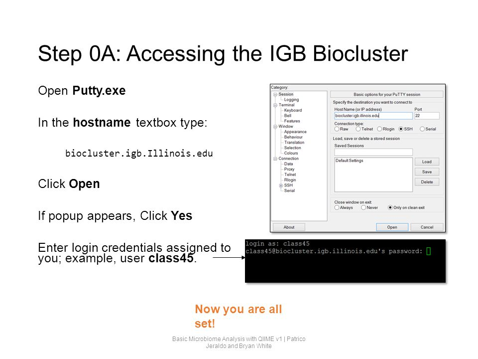 Step 0A: Accessing the IGB Biocluster