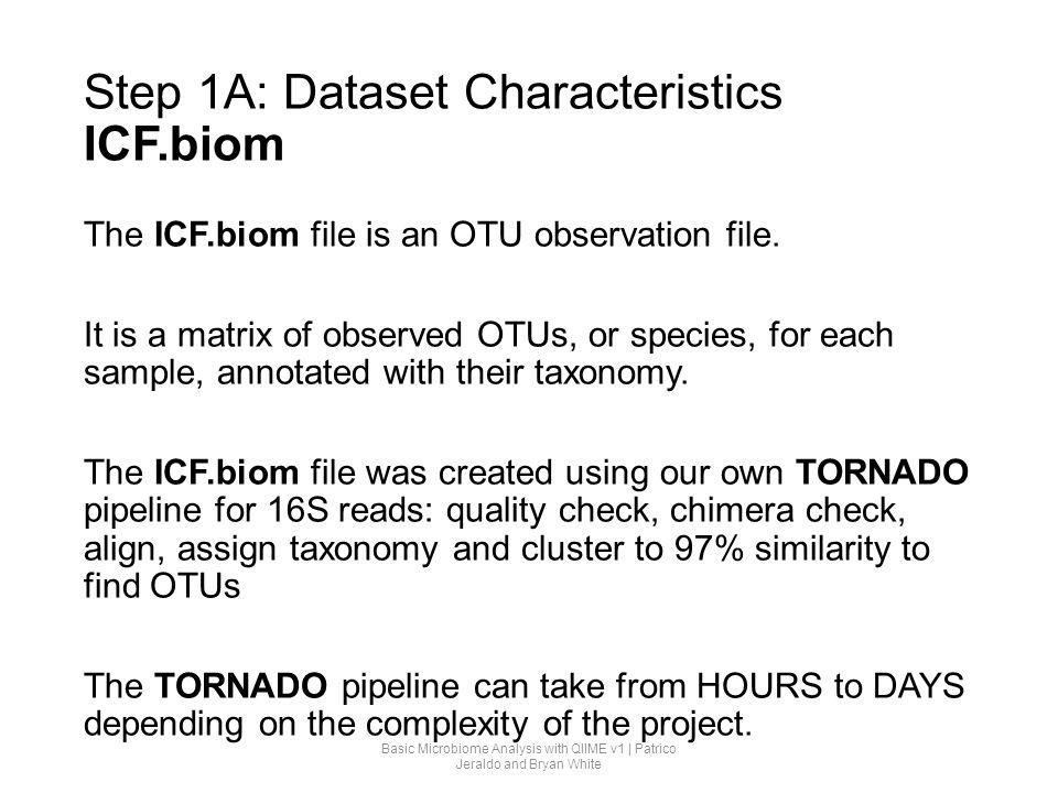 Step 1A: Dataset Characteristics ICF.biom
