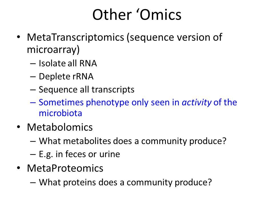 Other 'Omics MetaTranscriptomics (sequence version of microarray)