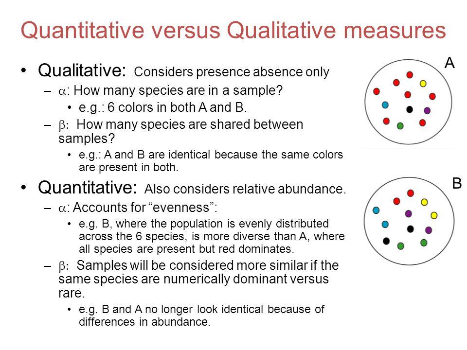 Quantitative versus Qualitative measures
