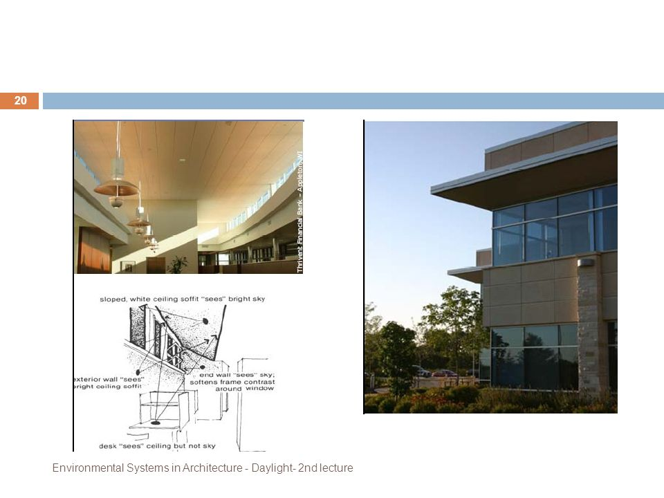 Environmental Systems in Architecture - Daylight- 2nd lecture