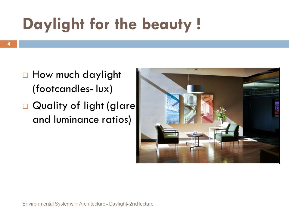 Daylight for the beauty !