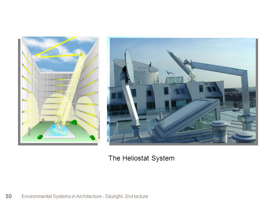 The Heliostat System Environmental Systems in Architecture - Daylight- 2nd lecture