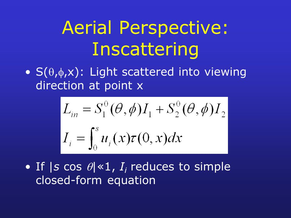 Aerial Perspective: Inscattering