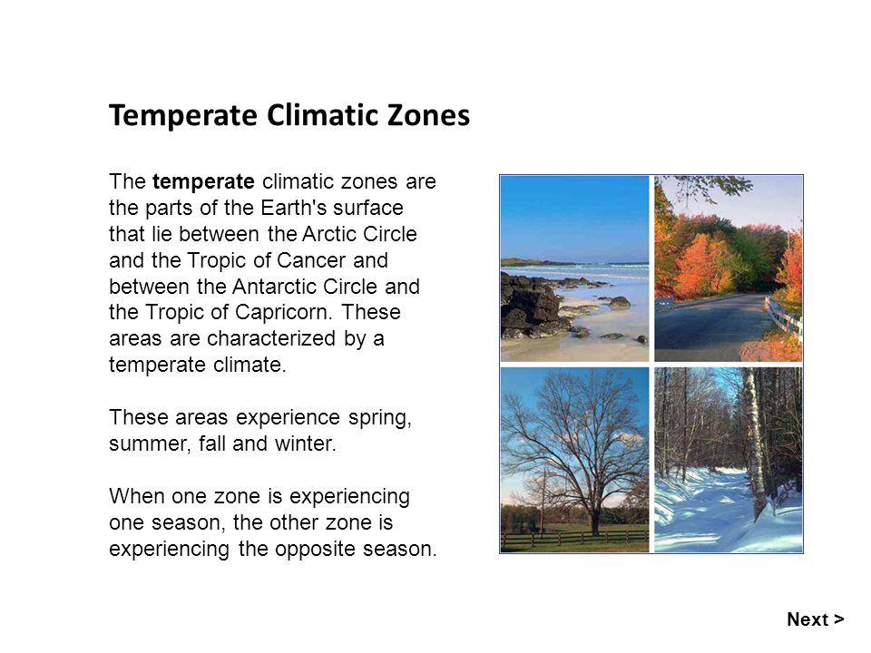 Temperate Climatic Zones