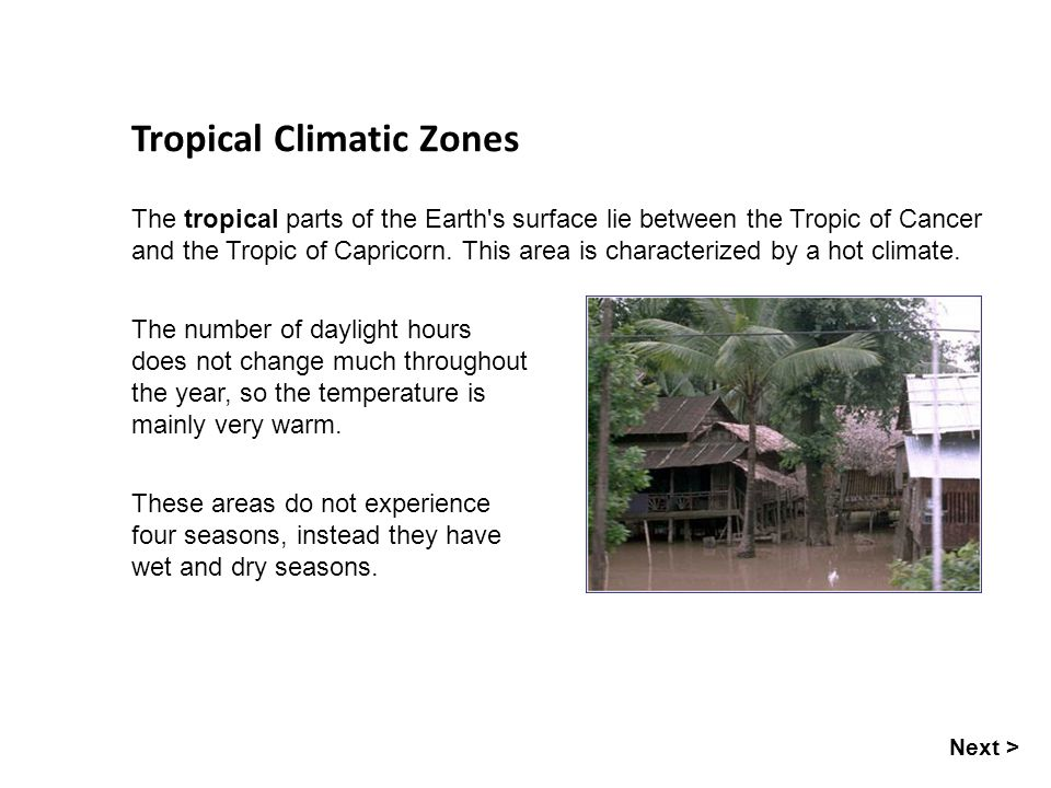 Tropical Climatic Zones