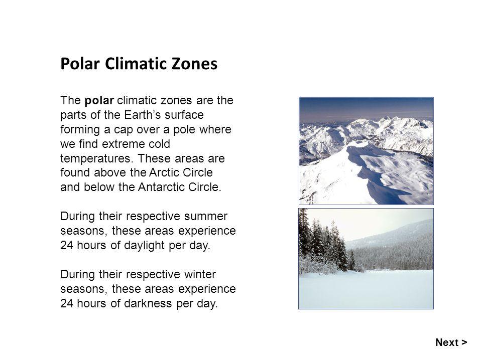 Polar Climatic Zones