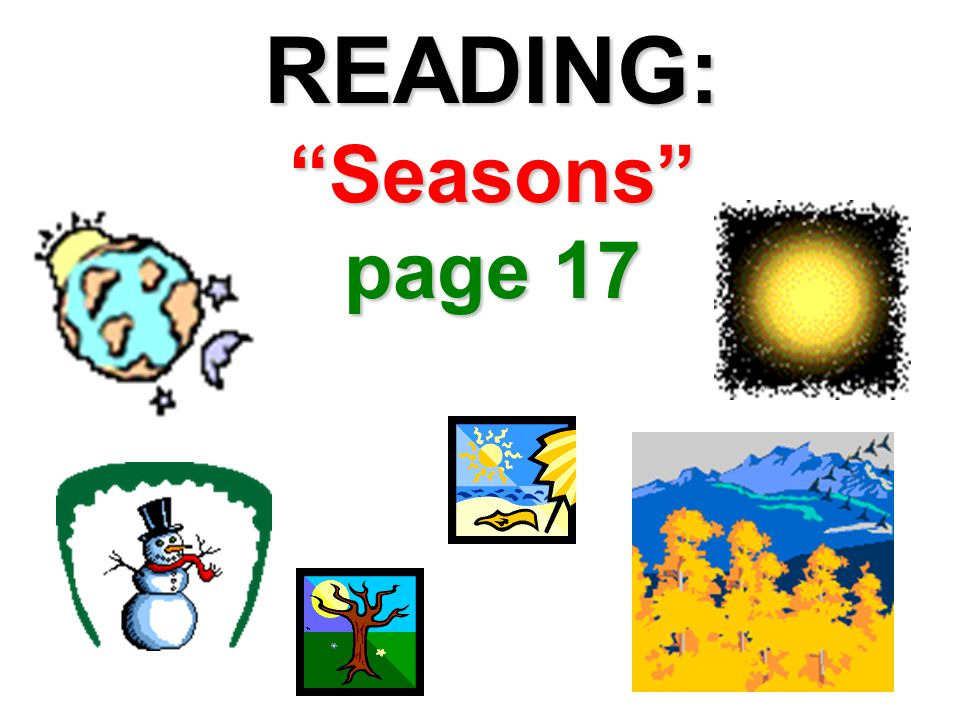 READING: Seasons page 17