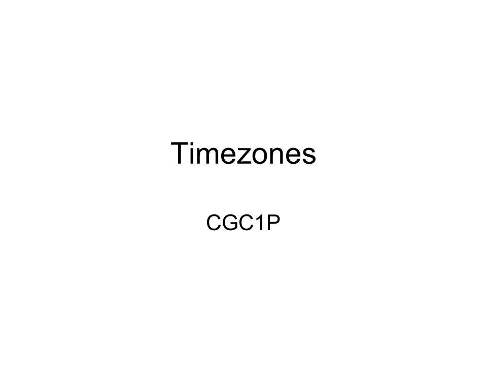 Timezones CGC1P