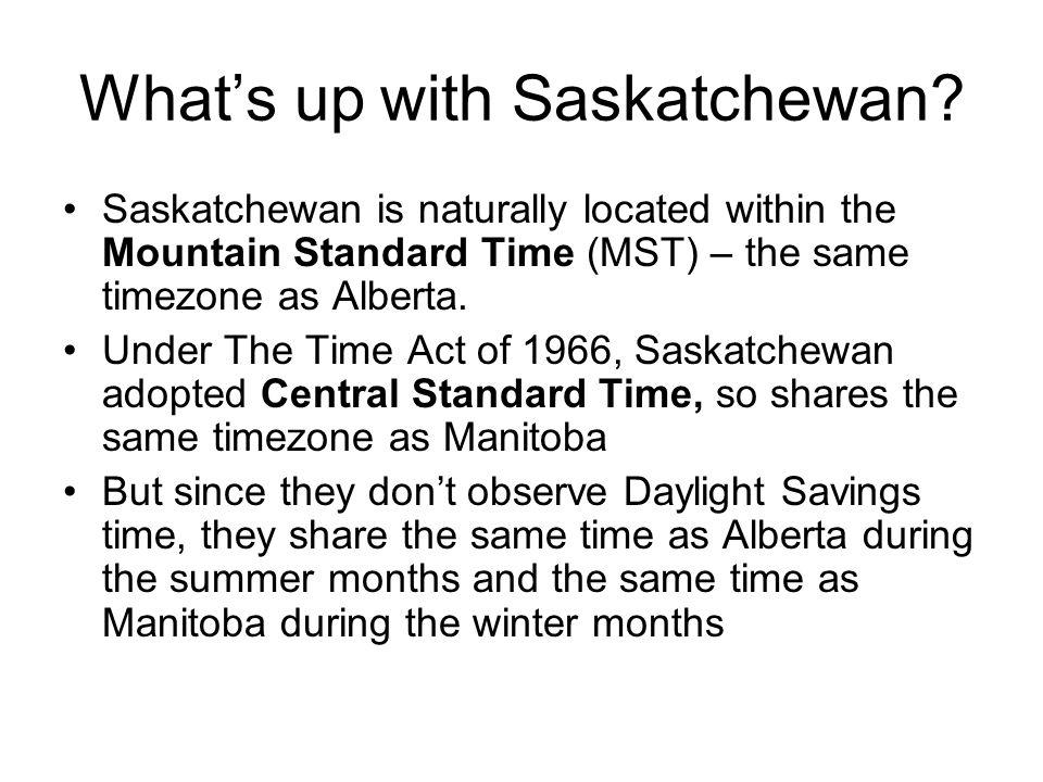 What's up with Saskatchewan
