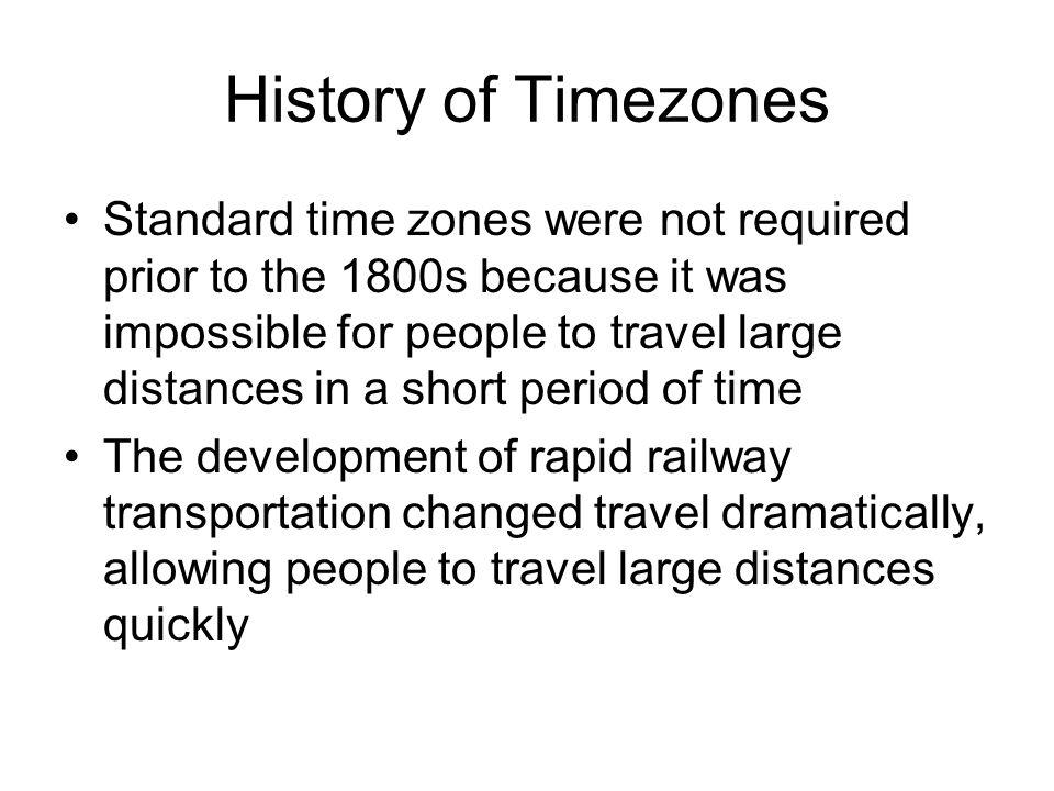 History of Timezones