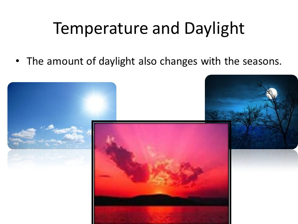 Temperature and Daylight