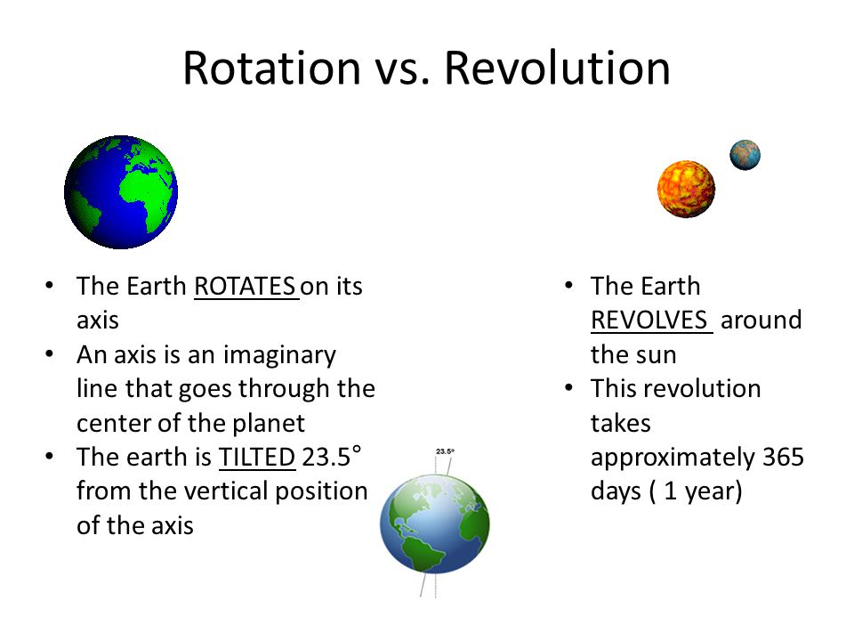 Rotation vs. Revolution