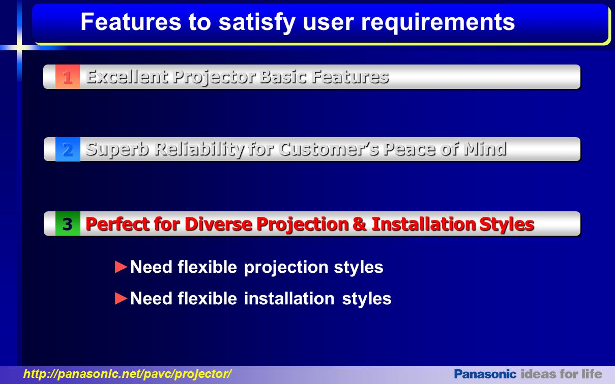 Features to satisfy user requirements