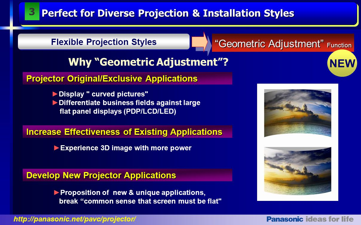 Flexible Projection Styles Why Geometric Adjustment