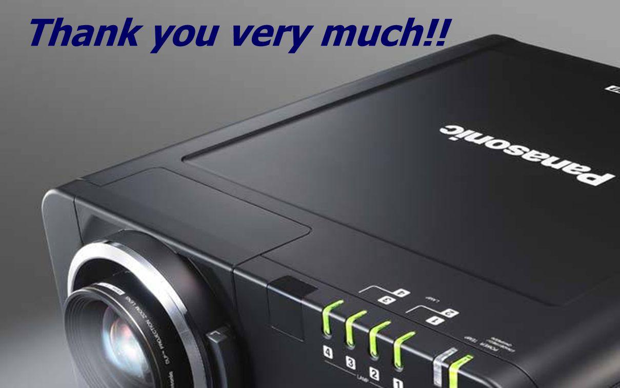 Thank you very much!! Thank you very much. Thank you very much!!