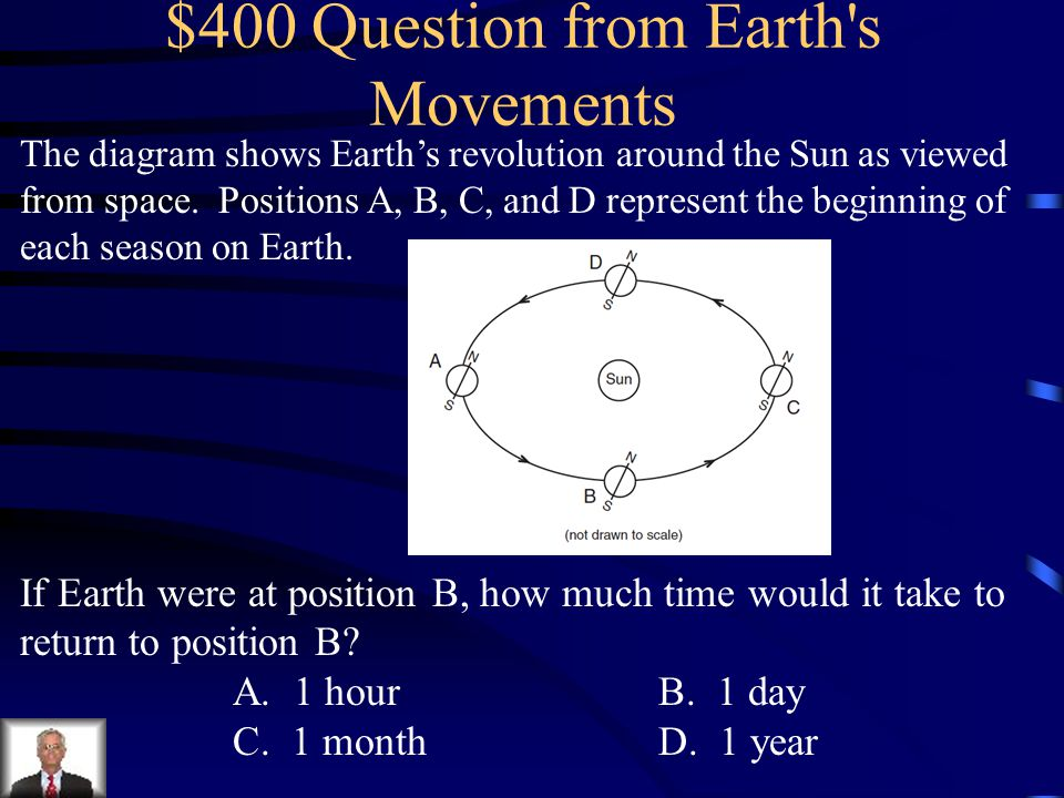 $400 Question from Earth s Movements