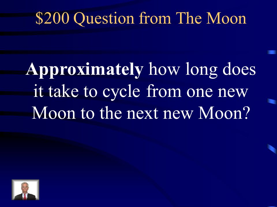 $200 Question from The Moon