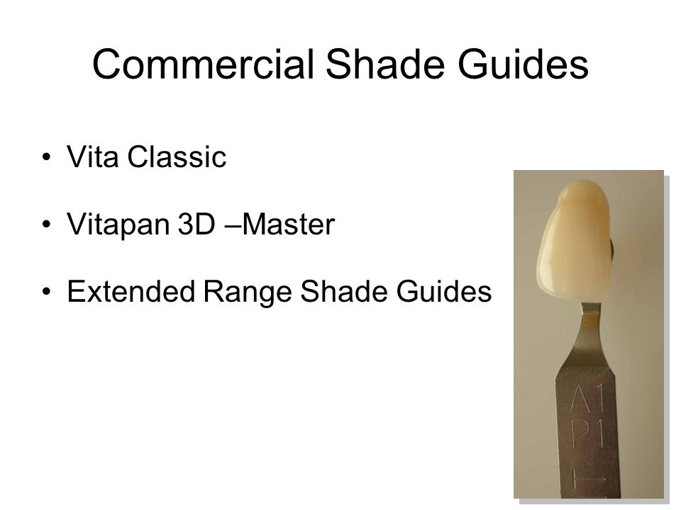 Commercial Shade Guides