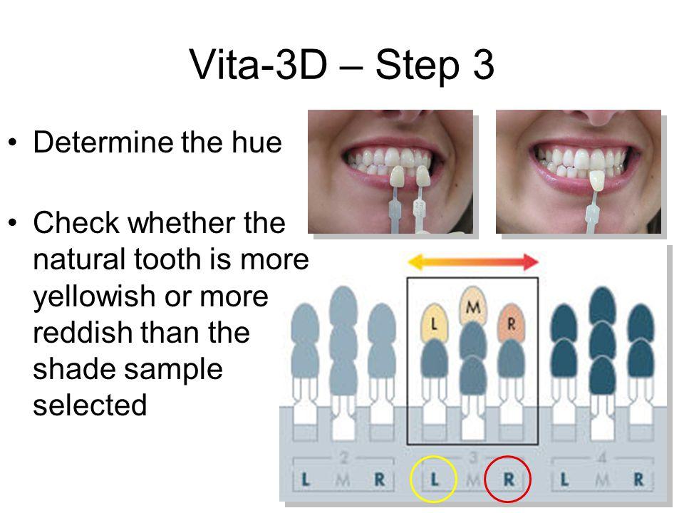 Vita-3D – Step 3 Determine the hue