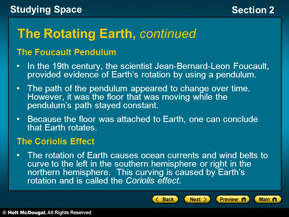 The Rotating Earth, continued