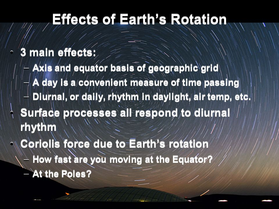 Effects of Earth's Rotation