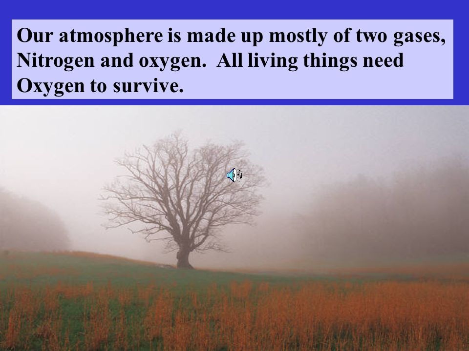 Our atmosphere is made up mostly of two gases,