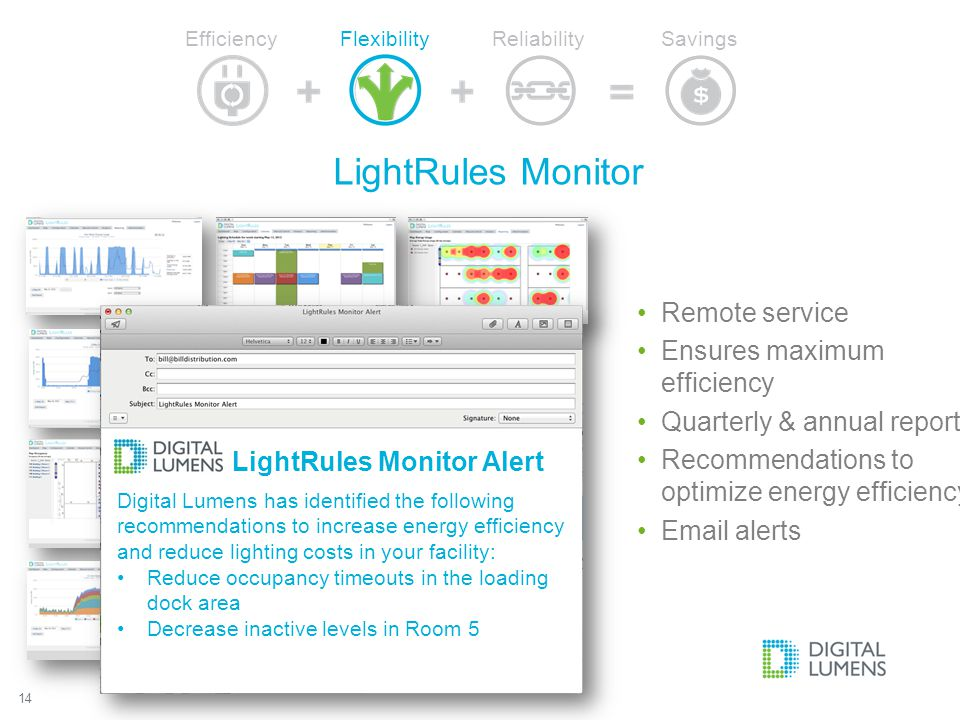 LightRules Monitor Remote service Ensures maximum efficiency