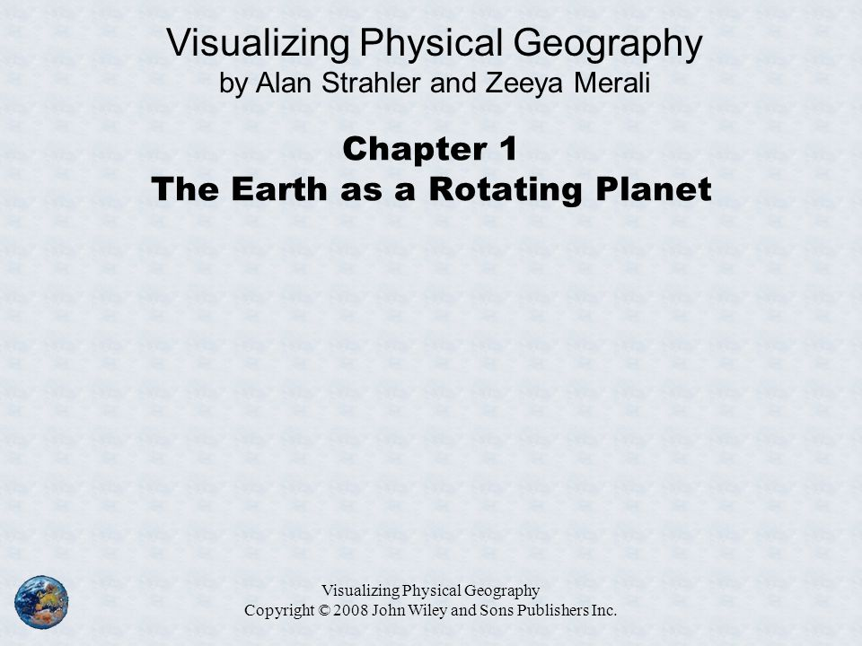 Chapter 1 The Earth as a Rotating Planet