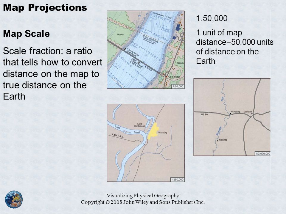 Map Projections Map Scale